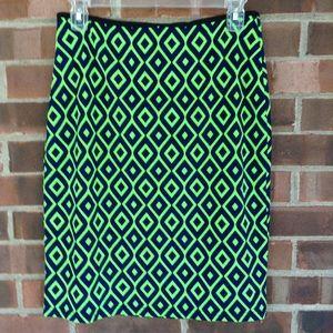 Doublju green neon colored pencil skirt